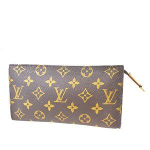 LOUIS VUITTON Bucket GM Pouch Monogram Leather Bro